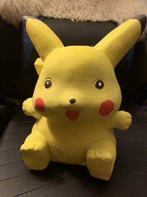 Pikachu ceramic piggy bank for Sale in Highland, CA