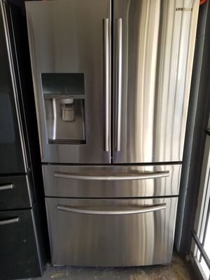 Samsung stainless steel counter depth French door refrigerator for Sale in Houston, TX