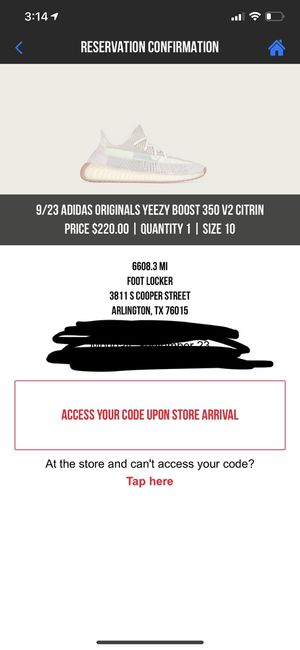 Yeezy boost 350 citrin for Sale in Grand Prairie, TX