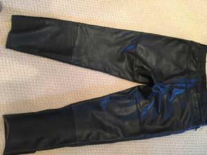 First Gear Men's Leather Motorcycle Pants size 38 for Sale in Broadview Heights, OH