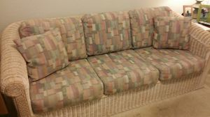 Wicker furniture set with pull out sofa bed for Sale in Winter Haven, FL