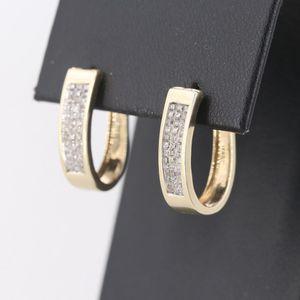 10k Yellow Gold 1ct diamond earrings for Sale in Glassport, PA