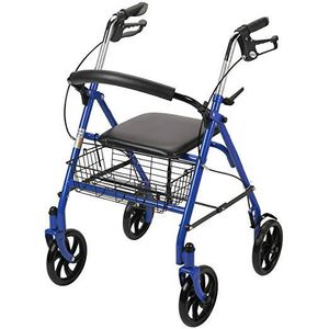 Four wheel walker with fold up removable back support $30 OBO for Sale in Silver Spring, MD