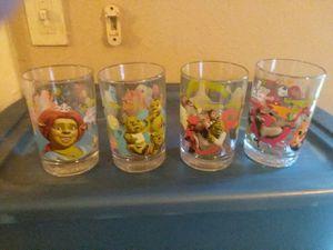 Shrek the Third glasses for Sale in Dallas, TX