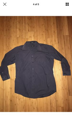 Milani Men's Dress shirt size 17 34/35 Blue Designed in Italy front button for Sale in Sun City, CA