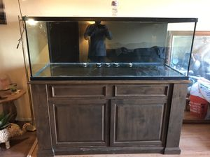 Aquarium 200gallon with custom built stand for Sale in Norco, CA