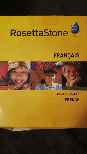 Rosetta Stone (French levels 1-5) for Sale in Ceres, CA
