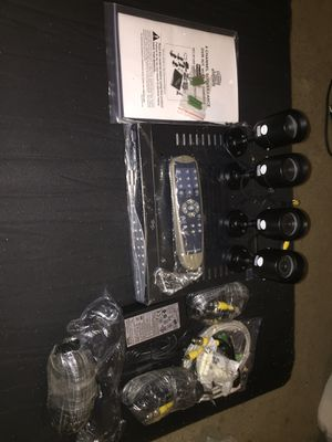 4 channel surveillance dvr kit with 4-ir cameras for Sale in Washington, DC