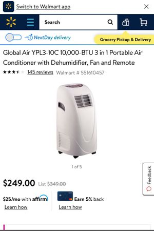 Air conditioner portable for Sale in San Angelo, TX