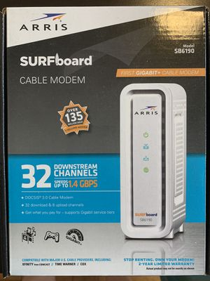 ARRIS - SURFboard 32 x 8 DOCSIS 3.0 Cable Modem - White for Sale in Washington, DC