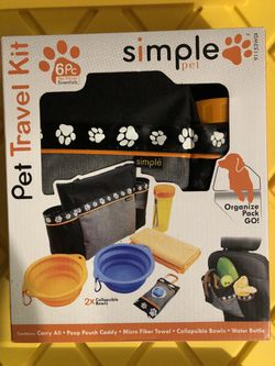 Simple Dog Pet Travel Kit for Sale in Rochester,  WA