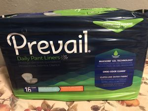 """Prevail Pant Liners large plus 13""""x28"""" pkg of 16 for Sale in Auburn, WA"""