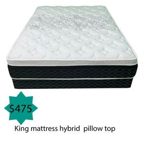 King mattress hybrid pillow top for Sale in Costa Mesa, CA