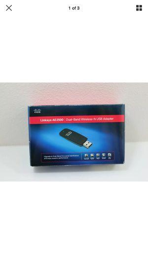 Linksys Cisco AE2500 Dual-Band WiFi Wireless-N USB Adapter for Sale in Olympia, WA