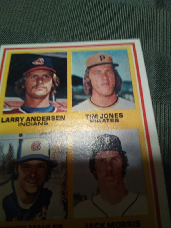 Vintage 1978 rookie pitchers/jack Morris,Mickey Mahler,Tim Jones,Larry anderson