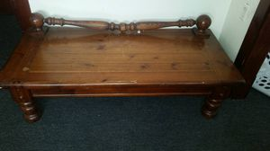 Coffee table and three shelves and bottom storage for Sale in Lorain, OH
