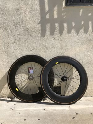 Carbon track 88 wheelset for Sale in Los Angeles, CA