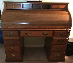 Solid Oak roll top desk for Sale in Braintree, MA