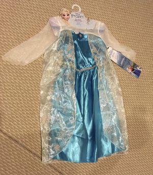 Elsa costume (NEW, 3-4 yrs old) & Frozen boardbook for Sale in Stone Ridge, VA