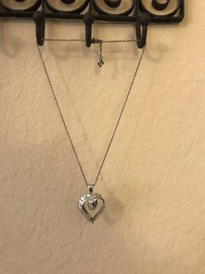 3 different heart necklaces. All Sterling silver.$10 each for Sale in San Diego, CA