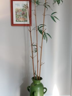 "Oversized Bamboo Planter - Faux Artificial Plant - 9"" Diameter Vase x 77"" Tall for Sale in Fort Lauderdale,  FL"