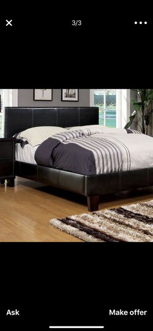 queen platform bed frame and mattress NEW for Sale in Plano, TX