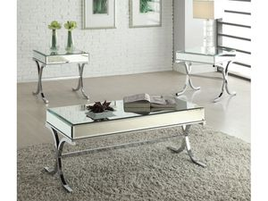 2PCS Mirrored Top Coffee Table & End Table for Sale in Hialeah, FL