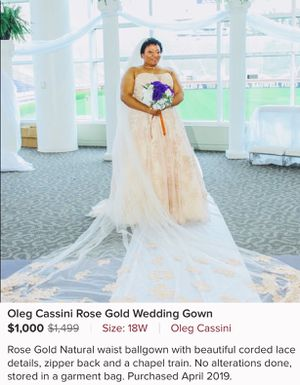 Oleg Cassini Wedding Gown for Sale in Greenville, NC