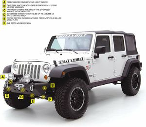 Smitty built XRC classic front bumper. 07-18 jk for Sale in Apple Valley, CA