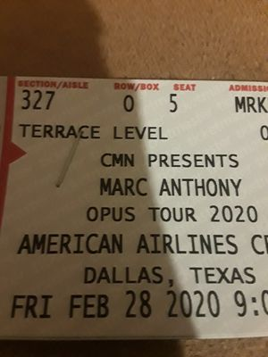 Freee 1 ticket para marc anthony for Sale in Fort Worth, TX