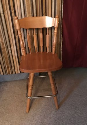 Swivel wooden barstools for Sale in Kent, WA