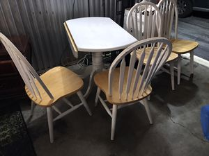 Nice Farmhouse style kitchen table with 4 chairs ONLY🙂NO Holds-NOT selling pieces separate for Sale in Raleigh, NC