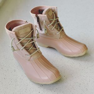 Sperry Saltwater Waterproof Wool Duck Boots In Rose Dust for Sale in Lombard, IL