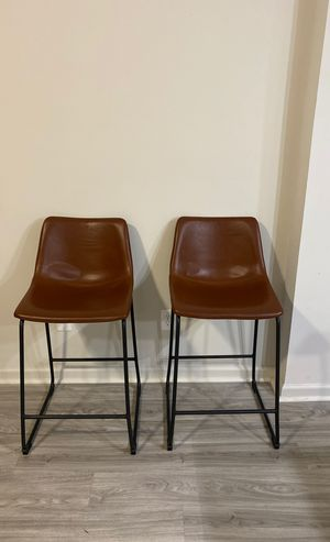 2 LEATHER BAR STOOLS SET for Sale in Chamblee, GA