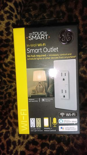 TouchSmart in wall Wi-Fi smart outlet for Sale in Alexandria, LA