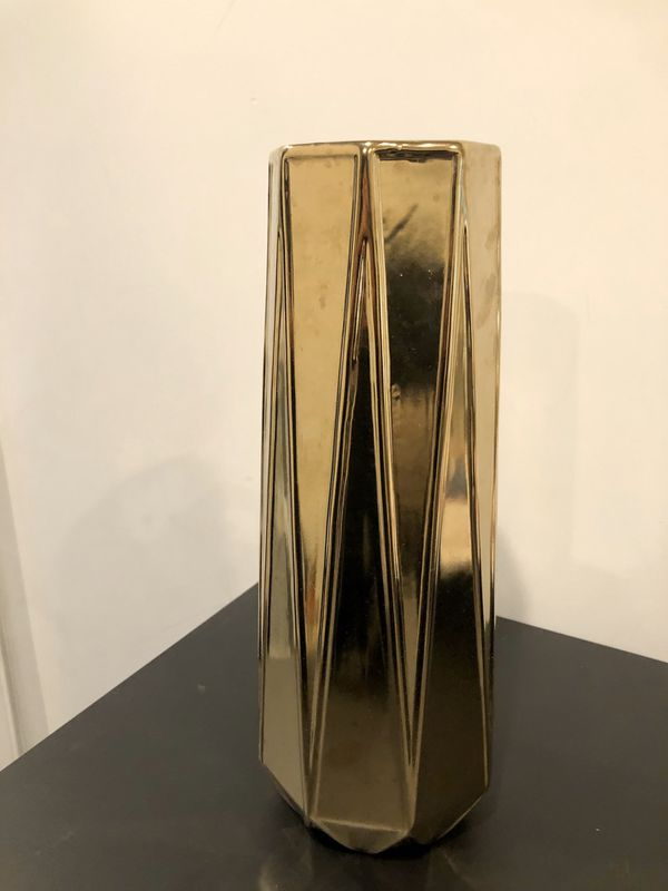 "Gold Vase 13 1/2"" tall"