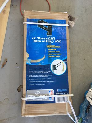 U turn lift mounting kit for basketball hoop. for Sale in Mesa, AZ