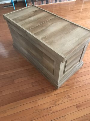 Weathered (color) Coffee table/storage bin for Sale in Baltimore, MD
