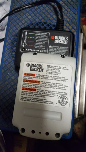 Black & Decker 20v battery & charger for Sale in Anchorage, AK