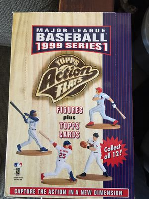 """1999 Series 1 Topps Action Flats 3"""" MLB Baseball Figures and Cards 16 Ct. for Sale in Reedley, CA"""