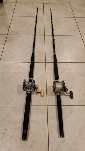 Penn Senator 113h 4/0 Fishing Reel Offshore Angler Ocean Master Trolling Rod Combos Pole, Just Serviced for Sale in Fort Lauderdale, FL