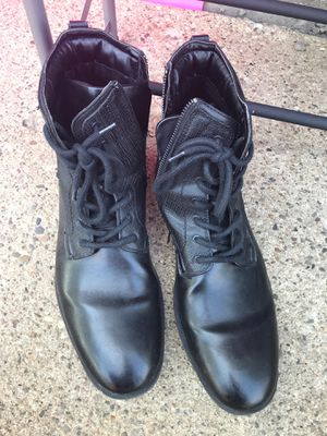 Black Calvin Klein sz 12 boots for Sale in Davenport, IA