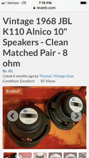 """VINTAGE JBL ALNICO 10"""" speakers for Sale in Montesano, WA"""
