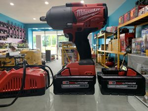 1/2 impact wrench kit with 2 6.0 battery in charger for Sale in Acworth, GA
