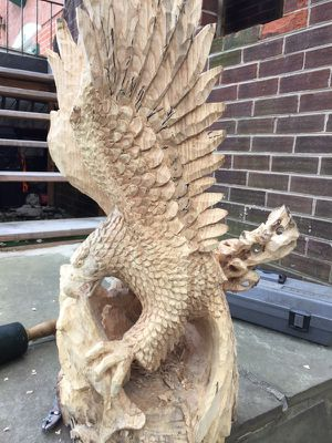 wood carving eagle for Sale in Alexandria, VA