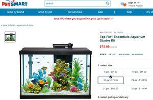 Top Fin 20 Gallon Aquarium for Sale in Stone Mountain, GA