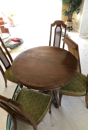 Excellent Condition Dining Table/Poker Table and 4 Chairs for Sale in Pompano Beach, FL
