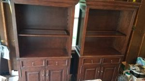 Two pieces hutch or bookshelves for Sale in Roselle, IL