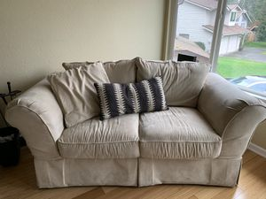 beige loveseat and couch for Sale in Cascade-Fairwood, WA