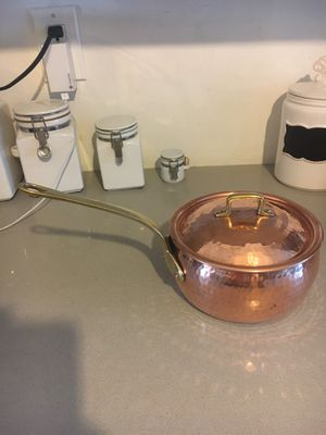 Hammered Copper And Brass Pot for Sale in Sunrise, FL